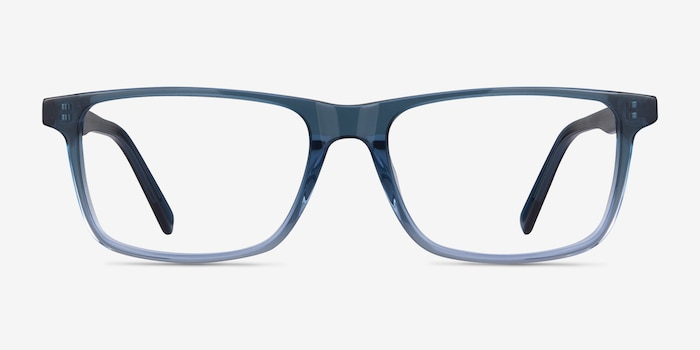 Mariner Clear Blue Acetate Eyeglass Frames from EyeBuyDirect, Front View