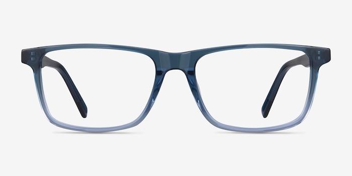Mariner Clear Blue Acétate Montures de Lunettes d'EyeBuyDirect, Vue de Face