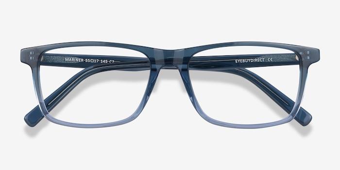 Mariner Clear Blue Acétate Montures de Lunettes d'EyeBuyDirect, Vue Rapprochée