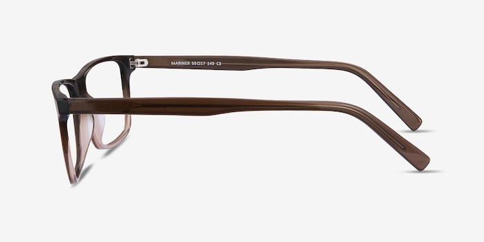 Mariner Clear Brown Acetate Eyeglass Frames from EyeBuyDirect, Side View