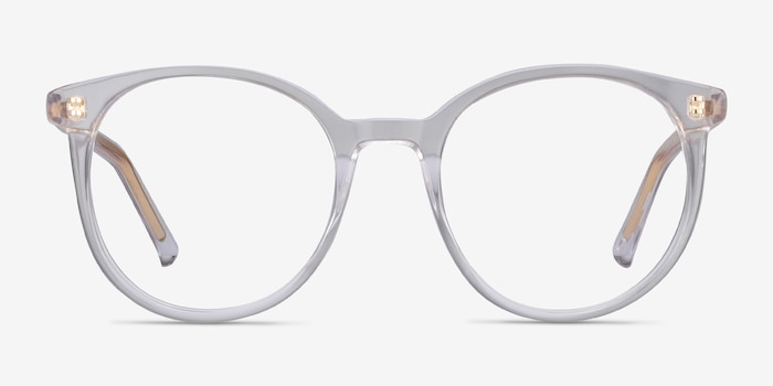 Noun Clear Acetate Eyeglass Frames from EyeBuyDirect, Front View
