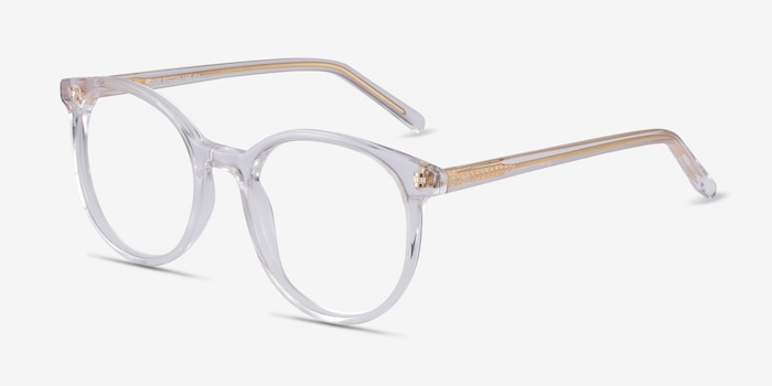 Noun Clear Acetate Eyeglass Frames from EyeBuyDirect, Angle View