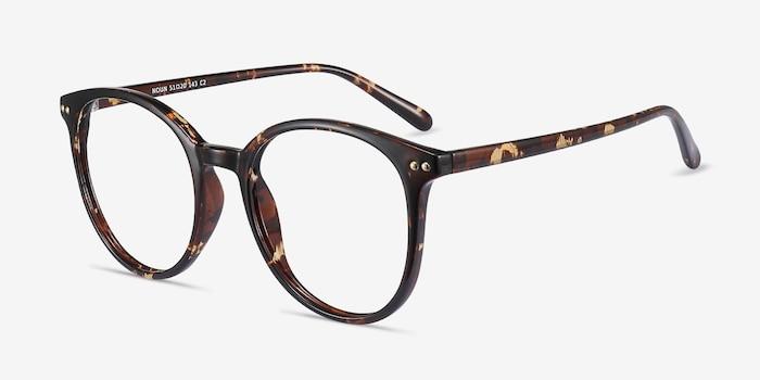 Noun Tortoise Plastic Eyeglass Frames from EyeBuyDirect, Angle View