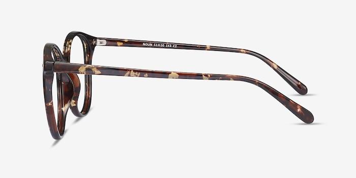 Noun Tortoise Plastic Eyeglass Frames from EyeBuyDirect, Side View