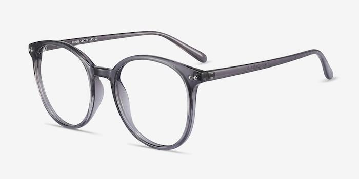 Noun Gray Plastic Eyeglass Frames from EyeBuyDirect, Angle View