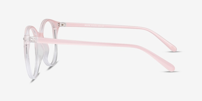 Noun Pink Plastic Eyeglass Frames from EyeBuyDirect, Side View