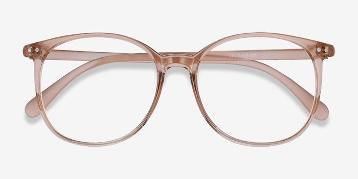 Lucia Champagne Plastic Eyeglass Frames from EyeBuyDirect, Closed View