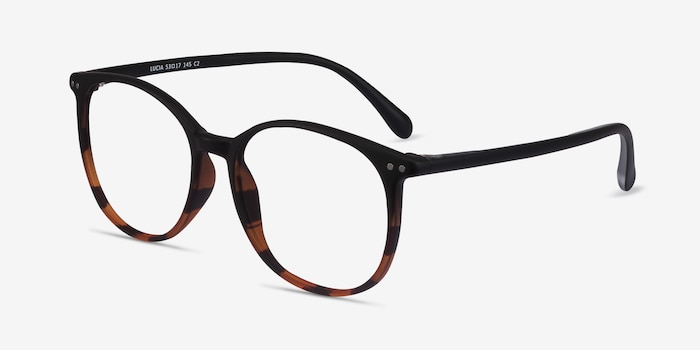 Lucia Black Tortoise Plastic Eyeglass Frames from EyeBuyDirect, Angle View