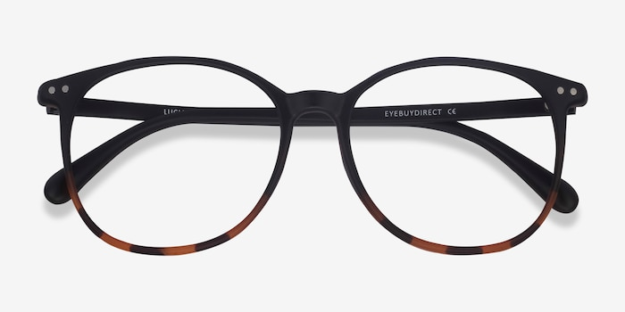 Lucia Black Tortoise Plastic Eyeglass Frames from EyeBuyDirect, Closed View