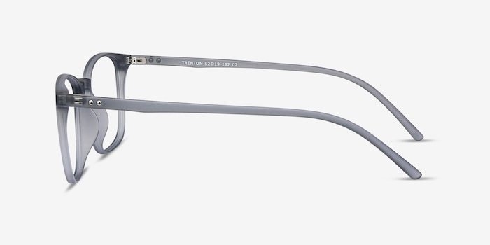 Trenton Gray Plastic Eyeglass Frames from EyeBuyDirect, Side View