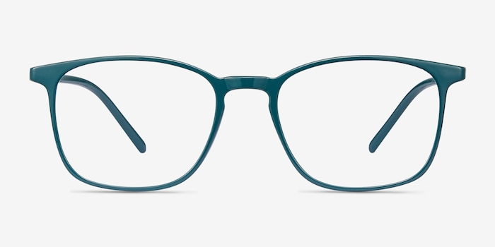 Trenton Green Plastic Eyeglass Frames from EyeBuyDirect, Front View