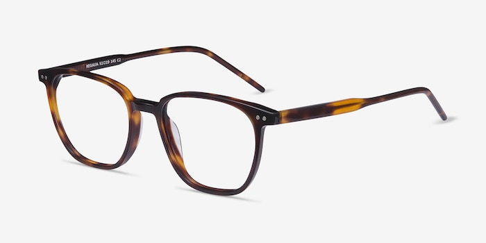 Regalia Tortoise Acetate Eyeglass Frames from EyeBuyDirect, Angle View