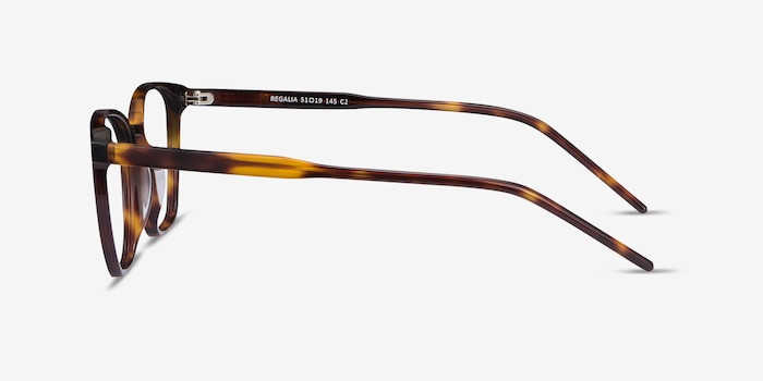 Regalia Tortoise Acetate Eyeglass Frames from EyeBuyDirect, Side View