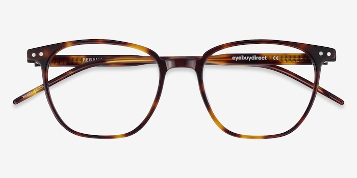 Regalia Tortoise Acetate Eyeglass Frames from EyeBuyDirect, Closed View