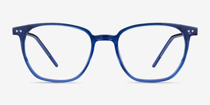 Regalia Bleu Acétate Montures de Lunettes d'EyeBuyDirect, Vue de Face
