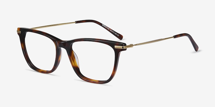 Sebastian Tortoise Acetate Eyeglass Frames from EyeBuyDirect, Angle View