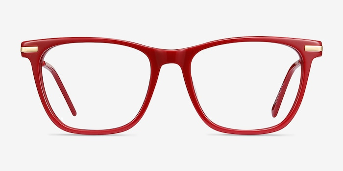 Sebastian Burgundy Acetate-metal Eyeglass Frames from EyeBuyDirect, Front View