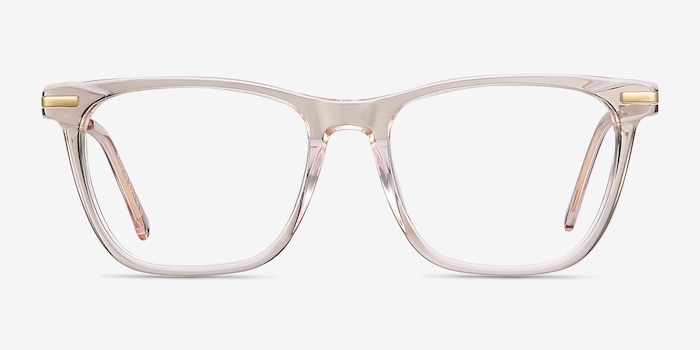 Sebastian Rose Gold Acetate Eyeglass Frames from EyeBuyDirect, Front View