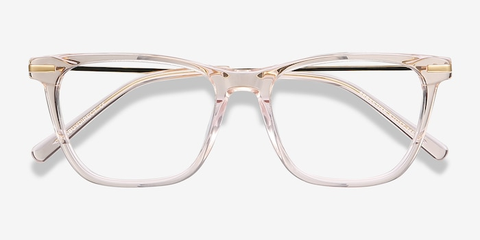 Sebastian Rose Gold Metal Eyeglass Frames from EyeBuyDirect, Closed View