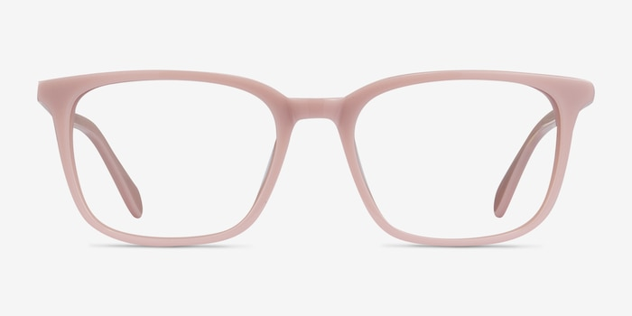 Etched Pink Acetate Eyeglass Frames from EyeBuyDirect, Front View