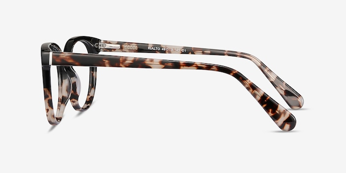 Rialto Black Tortoise Acetate Eyeglass Frames from EyeBuyDirect, Side View