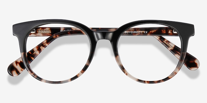 Rialto Black Tortoise Acetate Eyeglass Frames from EyeBuyDirect, Closed View