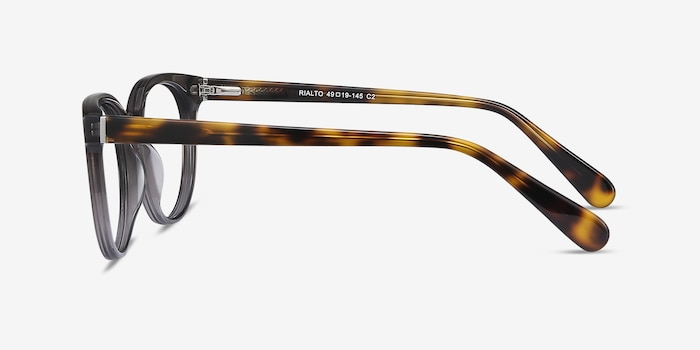 Rialto Gray Acetate Eyeglass Frames from EyeBuyDirect, Side View