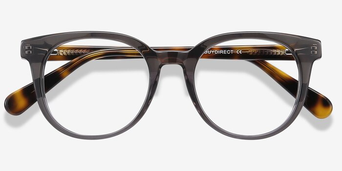 Rialto Gray Acetate Eyeglass Frames from EyeBuyDirect, Closed View