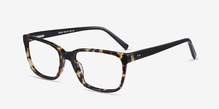 Demo Tortoise Acetate Eyeglass Frames from EyeBuyDirect, Angle View