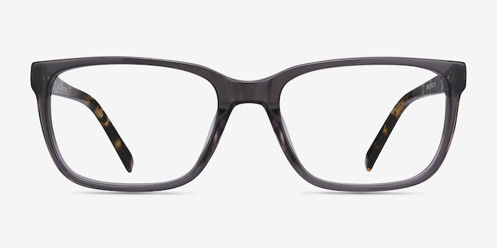 Demo Gray Acetate Eyeglass Frames from EyeBuyDirect, Front View