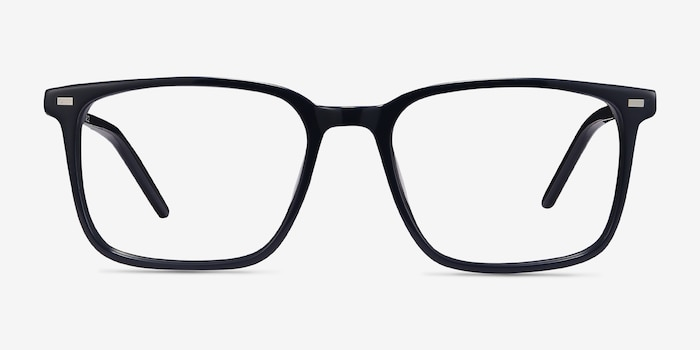 Chief Navy Acetate Eyeglass Frames from EyeBuyDirect, Front View