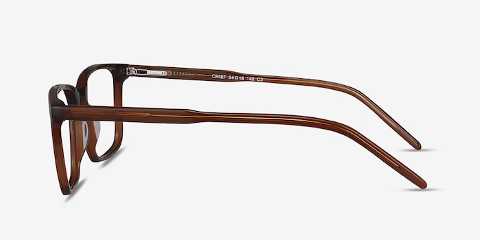 Chief Brown Acetate Eyeglass Frames from EyeBuyDirect, Side View