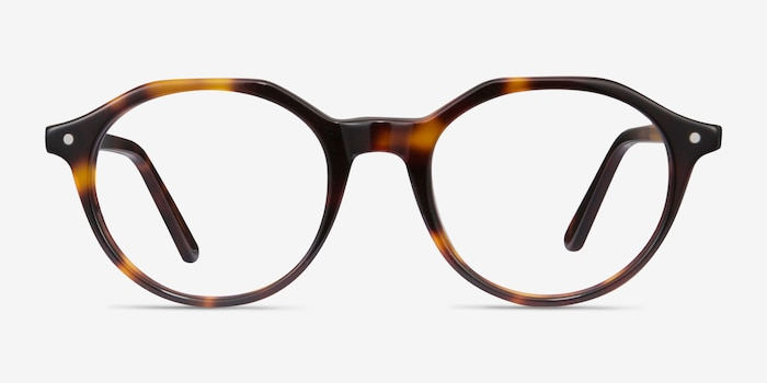 Moby Tortoise Acetate Eyeglass Frames from EyeBuyDirect, Front View