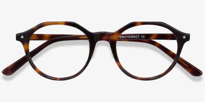 Moby Tortoise Acetate Eyeglass Frames from EyeBuyDirect, Closed View