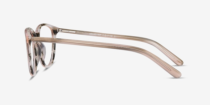 Messenger Striped Acetate Eyeglass Frames from EyeBuyDirect, Side View
