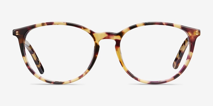 Messenger Tortoise Acetate Eyeglass Frames from EyeBuyDirect, Front View