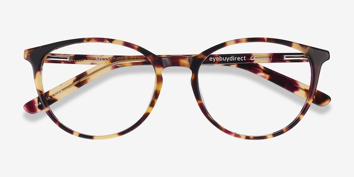 Messenger Tortoise Acetate Eyeglass Frames from EyeBuyDirect, Closed View