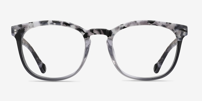 Keen Gray Floral Acetate Eyeglass Frames from EyeBuyDirect, Front View