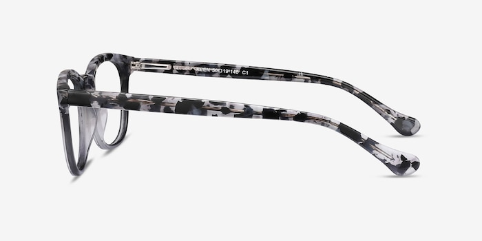 Keen Gray Floral Acetate Eyeglass Frames from EyeBuyDirect, Side View