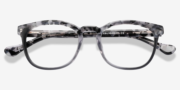 Keen Gray Floral Acetate Eyeglass Frames from EyeBuyDirect, Closed View