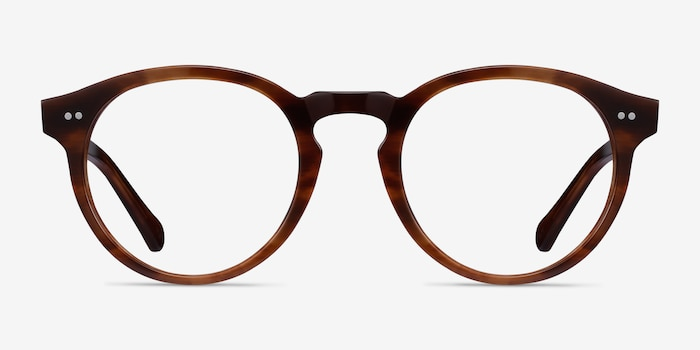 Theory Cognac Acetate Eyeglass Frames from EyeBuyDirect, Front View