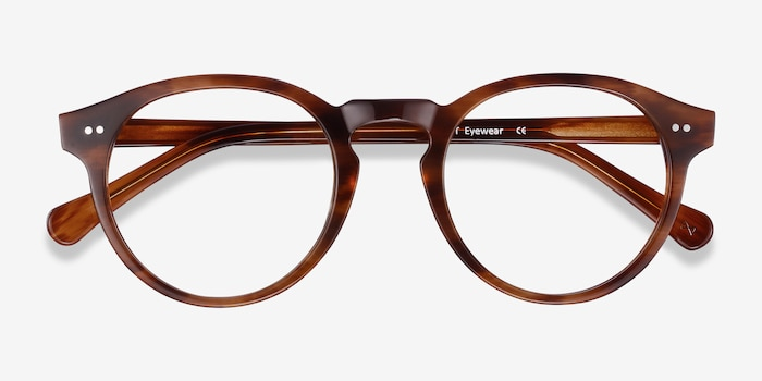 Theory Cognac Acetate Eyeglass Frames from EyeBuyDirect, Closed View