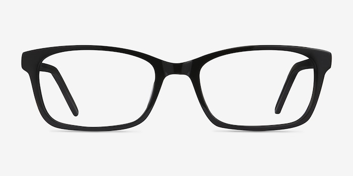 Mesquite Black Acetate Eyeglass Frames from EyeBuyDirect, Front View