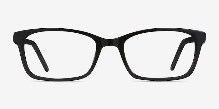 Mesquite Noir Acétate Montures de Lunettes d'EyeBuyDirect, Vue de Face