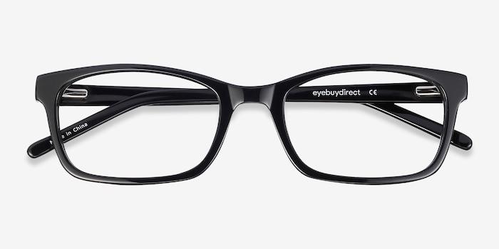 Mesquite Noir Acétate Montures de Lunettes d'EyeBuyDirect, Vue Rapprochée