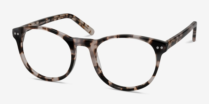 Primrose Ivory Tortoise Acetate Eyeglass Frames from EyeBuyDirect, Angle View