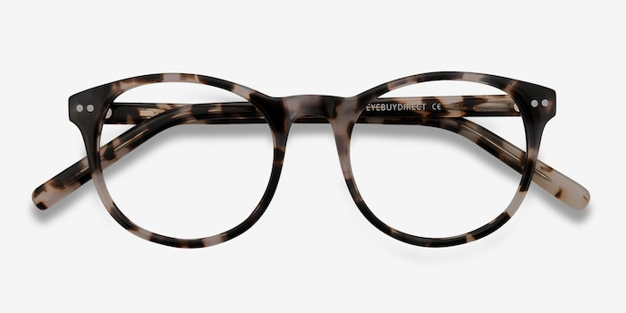 Primrose Ivory Tortoise Acetate Eyeglass Frames from EyeBuyDirect, Closed View