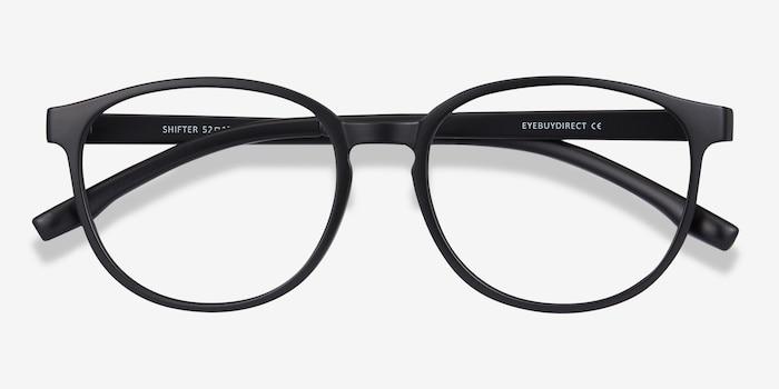 Shifter Noir Plastique Montures de Lunettes d'EyeBuyDirect, Vue Rapprochée