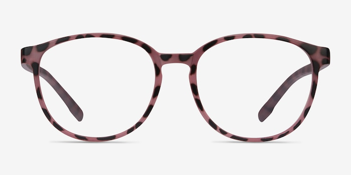 Shifter Pink Tortoise Plastic Eyeglass Frames from EyeBuyDirect, Front View