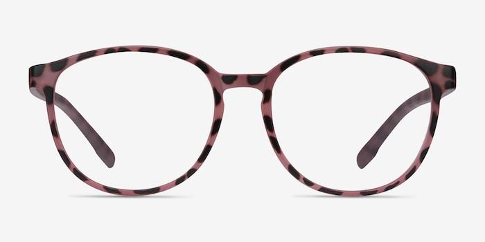 Shifter Pink Tortoise Plastique Montures de Lunettes d'EyeBuyDirect, Vue de Face